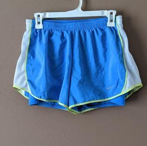 Nike DriFit M Blue Running Shorts